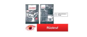 Rückruf Salmiak Salz Lakritz Bonbons Jahnke Süsswaren GmbH