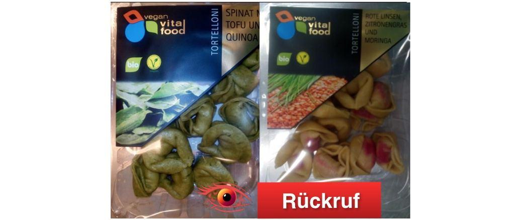 Rückruf Tortelloni vegan vital food GmbH