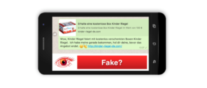 Spam Fake Kettenbrief Kinder Riegel Box