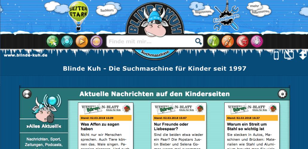 bline-kuh.de Suchmaschine Kinder