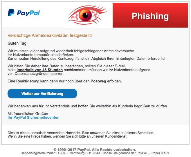paypal ihr konto wird eingeschränkt