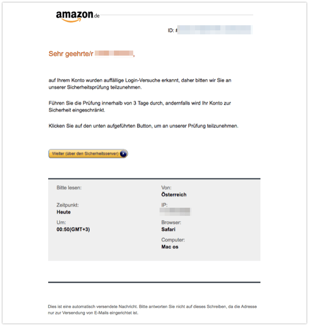2018-04-19 Amazon Phishing