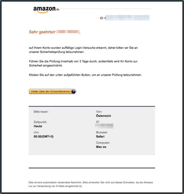 2018-04-19 Amazon Phishing