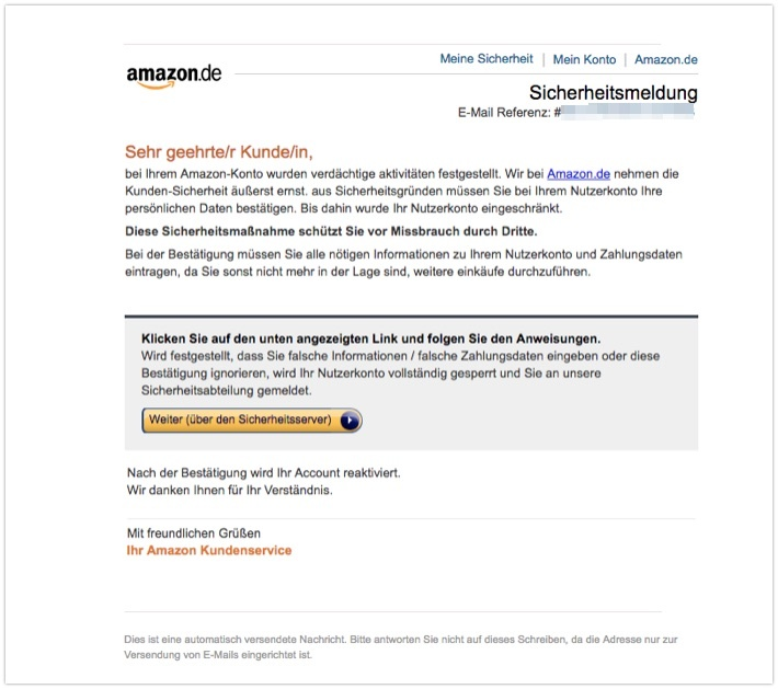 2018-04-20 Amazon Phishing