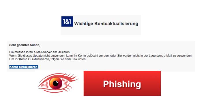 2018-04-23 1und1 Phishing Wichtige Kontoaktualisierung