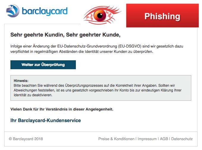 2018-04-23 Barclaycard Spam Mail EU-Datenschutz-Grundverordnung EU-DSGVO