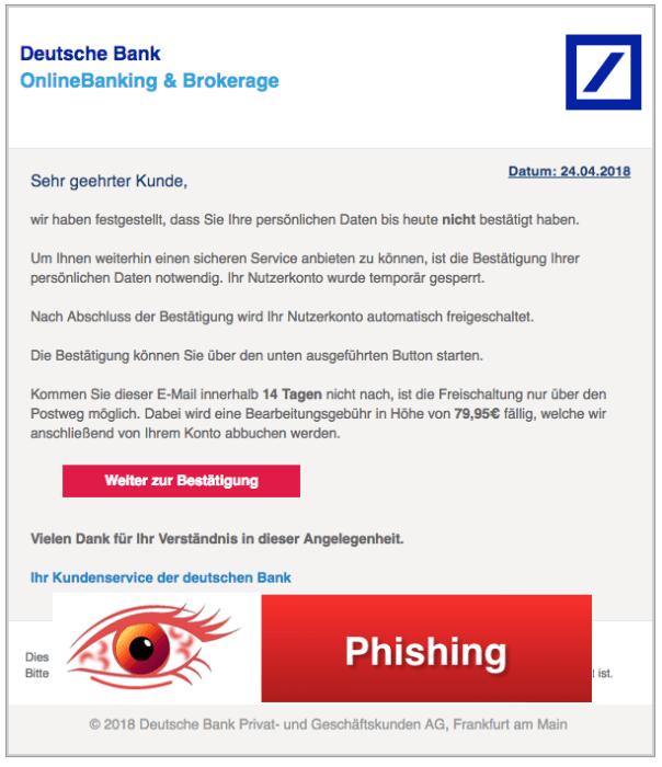 2018-04-24 Deutsche Bank Spam Bestätigung Ihrer Daten