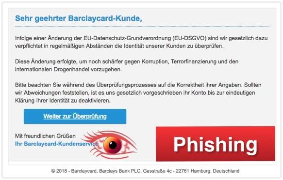 2018-04-27 Phishing Barclaycard