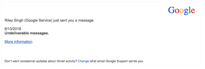2018-06-14 Google Spam Mails Fake Incoming messages