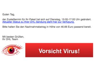 2018-07-31 DHL Virus Mail Ihr DHL Paket kommt am