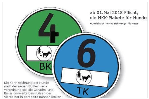Beitragsbild zur HKK-Plakette für Hunde