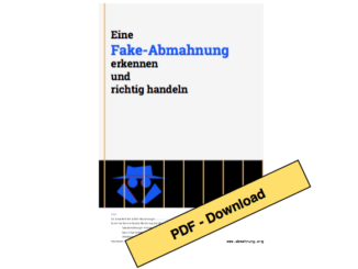 Download: Eine Fake-Abmahnung erkennen und richtig handeln