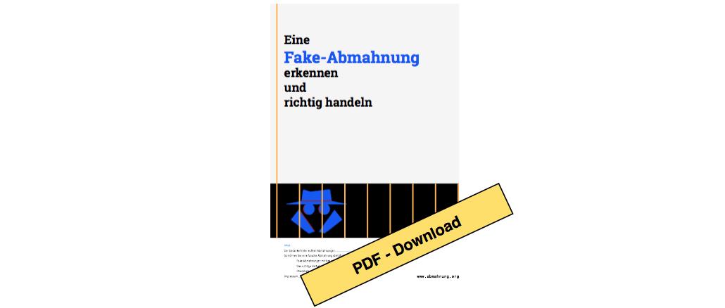 Kostenloses Ebook Als Ratgeber Bei Fake Abmahnungen