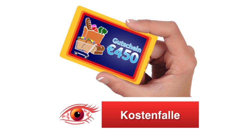 Vorsicht Kostenfalle: E-Mail mit 450 Euro Einkaufsgutschein für Aldi