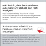Facebook Google Suche deaktivieren mobil