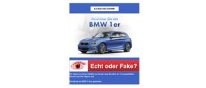 Gewinnspiel BMW ist Kostenfalle