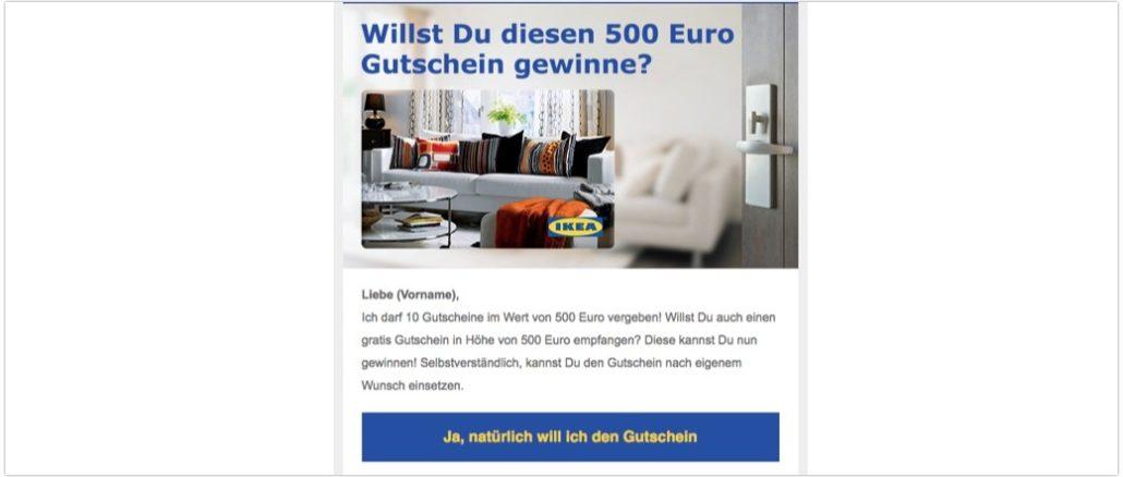 e mail verschenkt ikea 10 gutschein im wert von 500 euro. Black Bedroom Furniture Sets. Home Design Ideas
