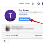 Google Passwort ändern 1