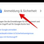 Google Passwort ändern 2