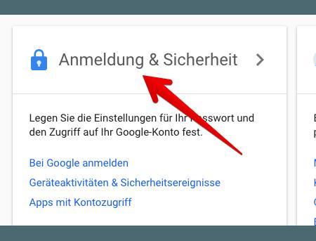 google konto passwort speichern