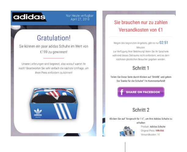 Kettenbrief 2500 kostenlose Adidas Schuhe 4