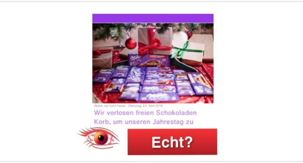 WhatsApp Kettenbrief: Kostenloser Schokoladenkorb von Milka – Wie bekomme ich diesen?