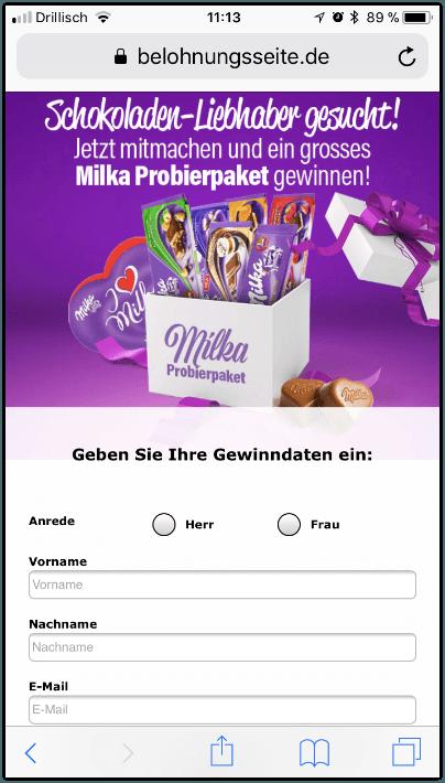 Milka Kettenbrief