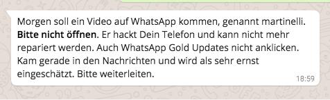 WhatsApp martinelli Virus