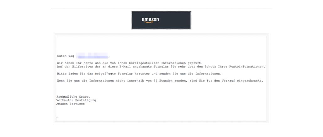 2018-05-03 Amazon Entzug Verkaufsberechtigung Fake-Mail
