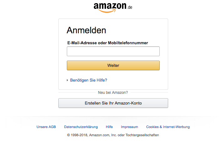 2018-05-03 Fake-Login im Amazon Design