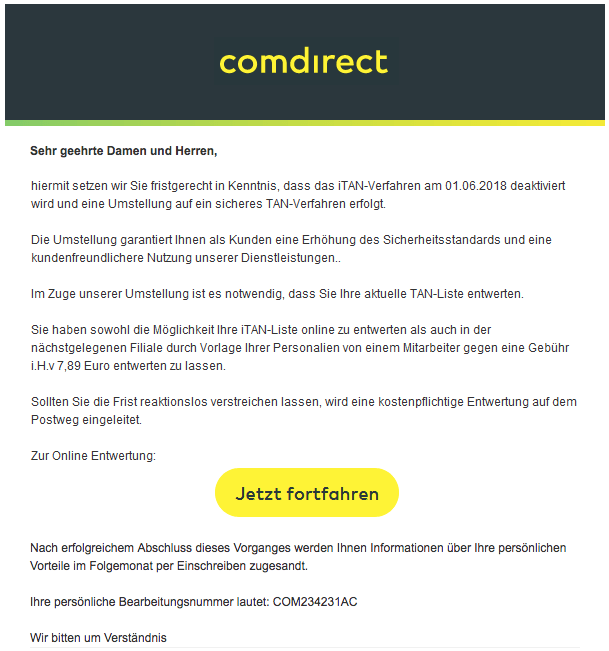 Email Comdirect