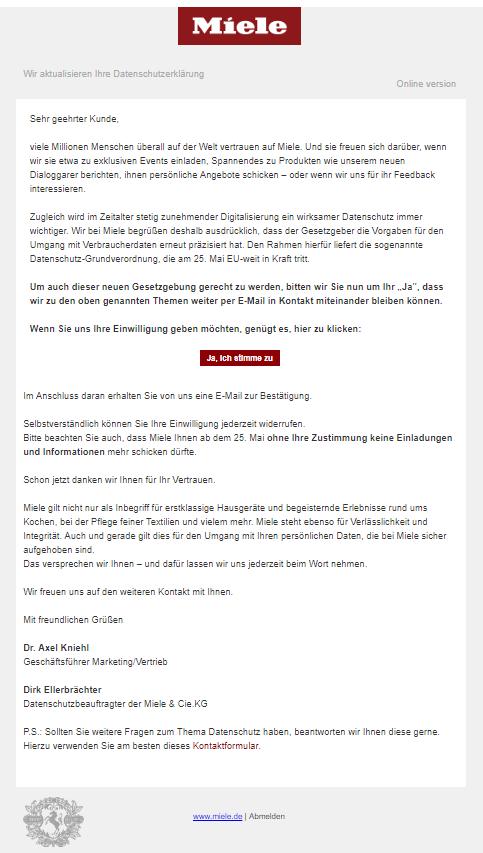 2018-05-17 E-Mail von Miele