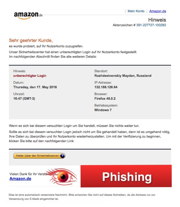 2018-05-18 Amazon Phishing