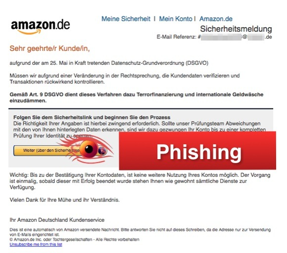2018-05-24 Amazon Phishing