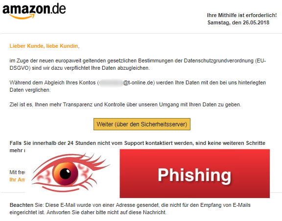 2018-05-27 Amazon Phishing