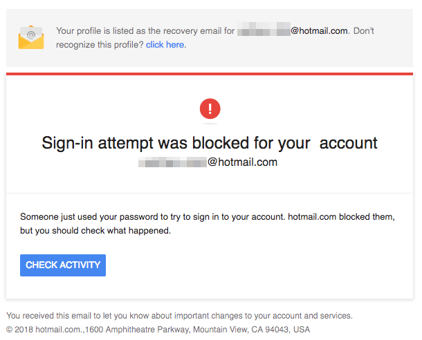 2018-05-29 Hotmail Sicherheitswarnung ist ein Fake