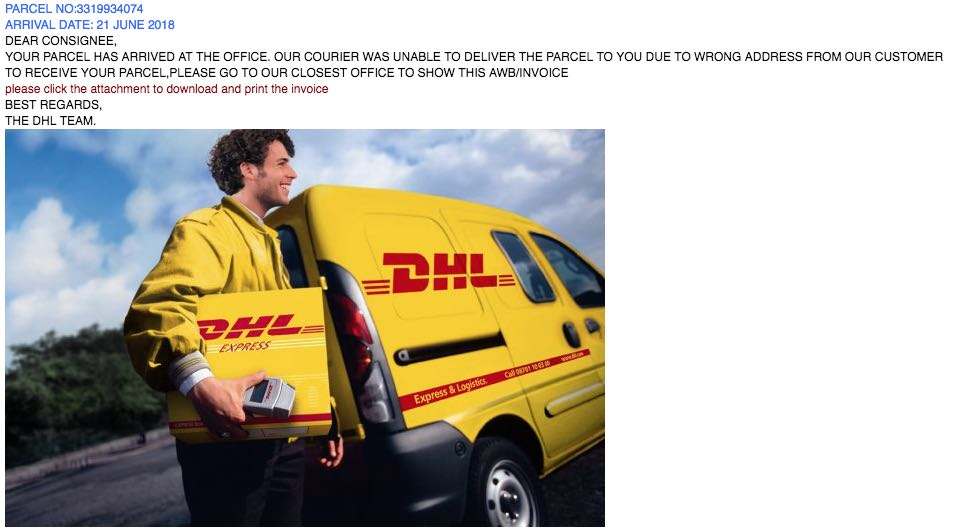 2018-06-21 DHL Spam Mail Final Notification