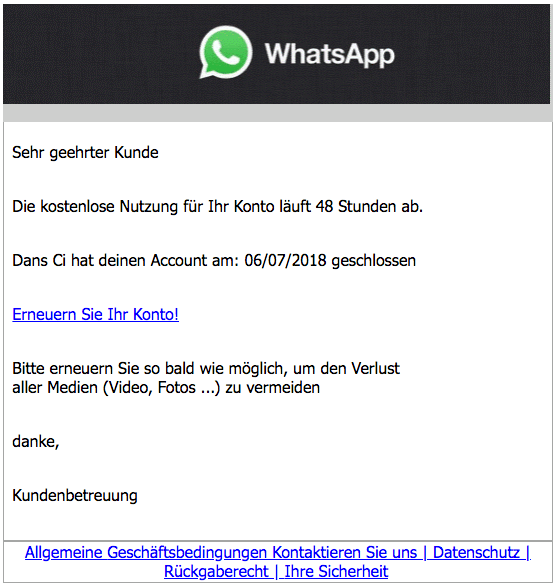 2018-07-04 WhatsApp Phishing