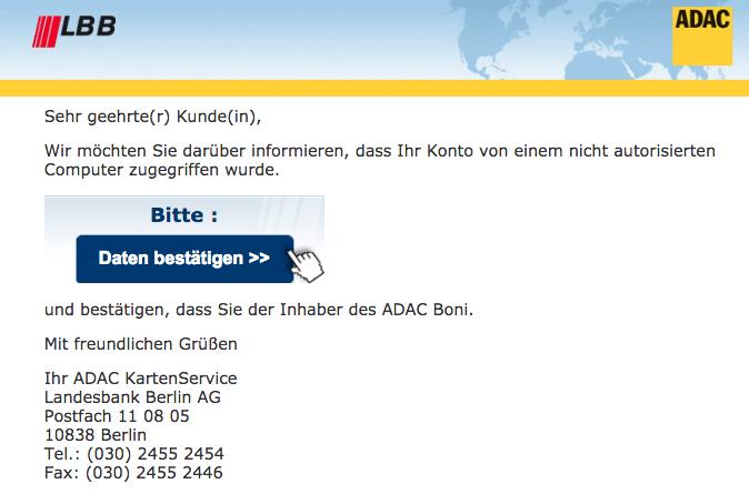 vorsicht phishing e mail im namen der landesbank berlin lbb. Black Bedroom Furniture Sets. Home Design Ideas