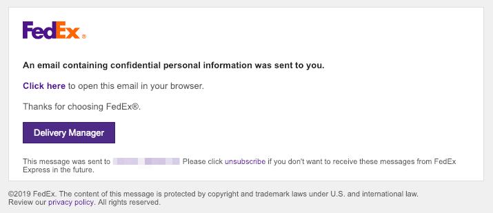 2019-02-15 Fedex Spam Mail Federal Express