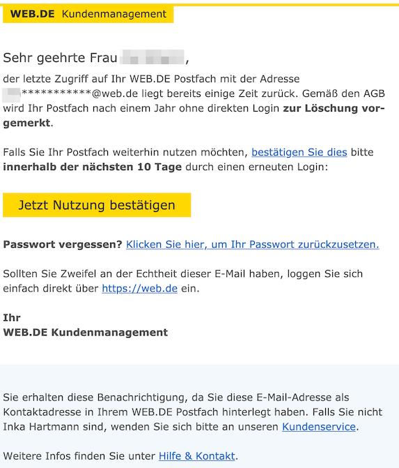 2019-06-21 Web.de echte E-Mail