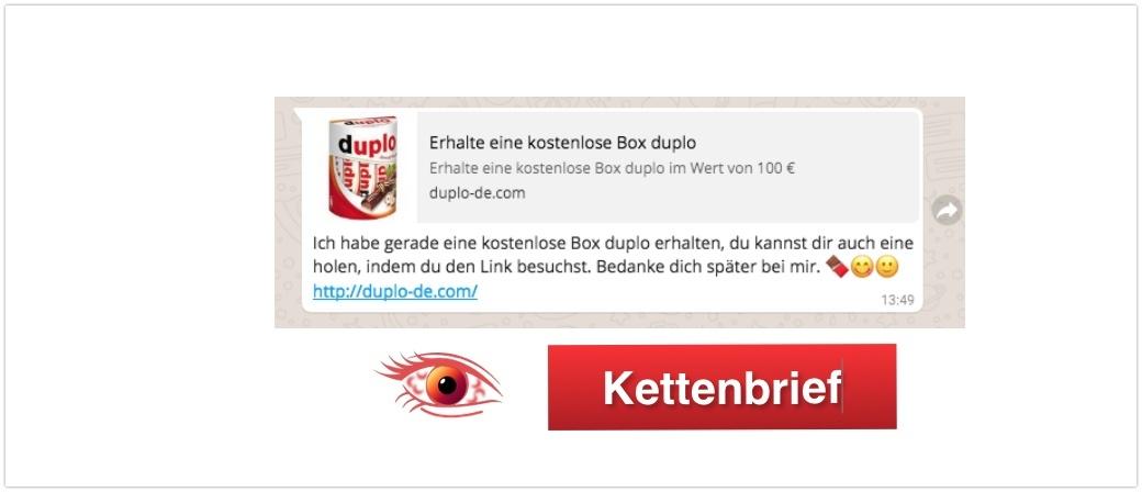 Duplo Kettenbrief WhatsApp