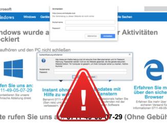 Fake-Virus-Warnung im Namen Microsoft Windows