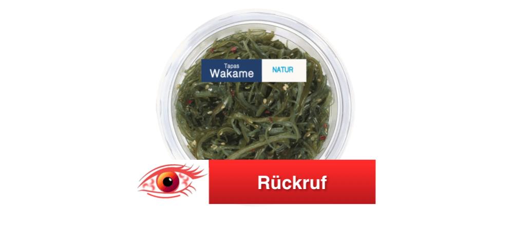 Rückruf Wakame Salat – Meeresalgen Lidl