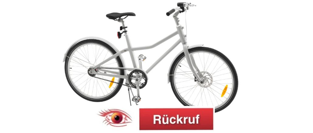 SLADDA Fahrrad Rückruf