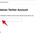 Twitter Kennwort zurücksetzen 2
