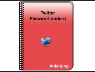 Twitter Paswort ändern oder zurücksetzen