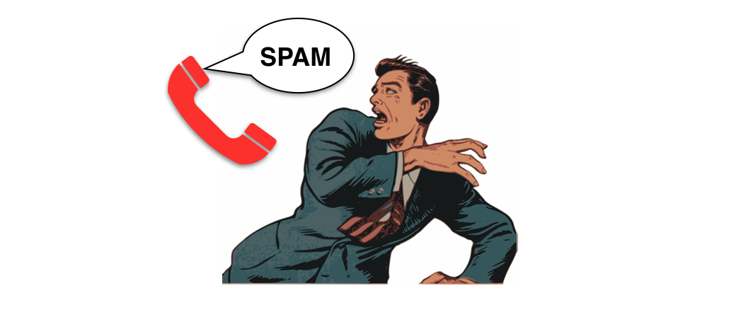 Werbeanrufe Spam Symbolbild