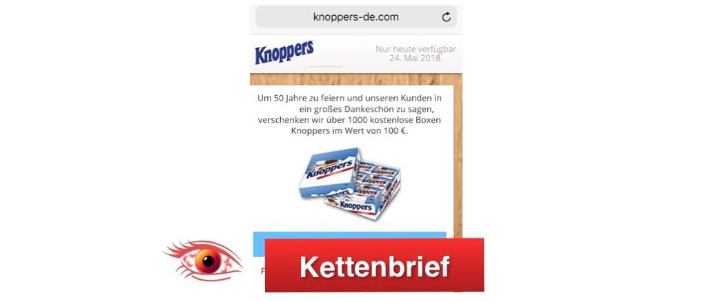 WhatsApp Kettenbrief Knoppers