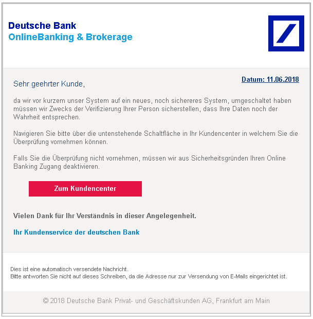 2018-06-12 Phishing Deutsche Bank